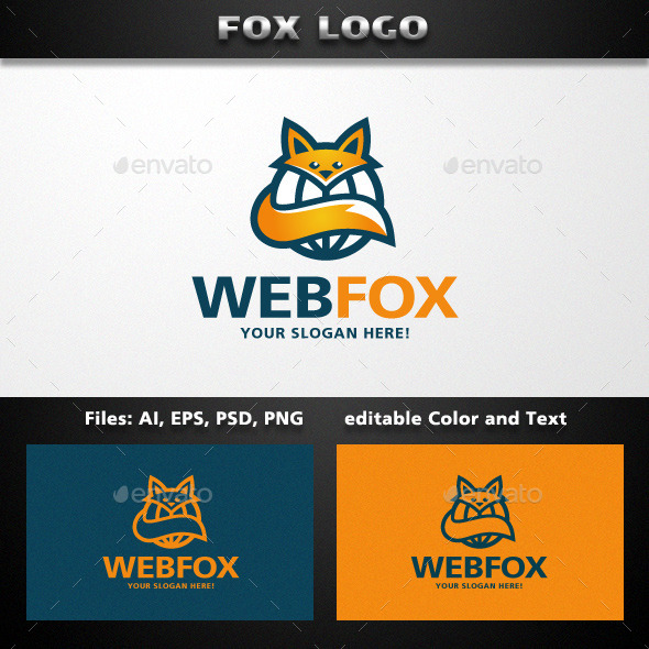 Fox Logo Template - Animals Logo Templates