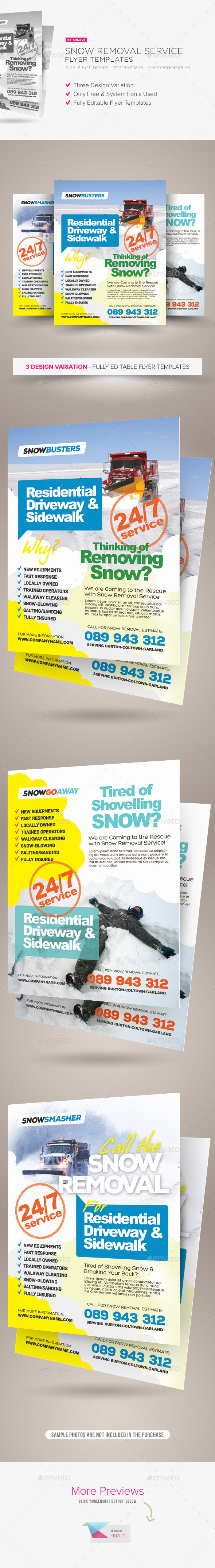 Snow Removal Service Flyers - Corporate Flyers