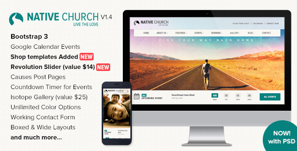 NativeChurch - Responsive HTML5 Template - Nonprofit Site Templates