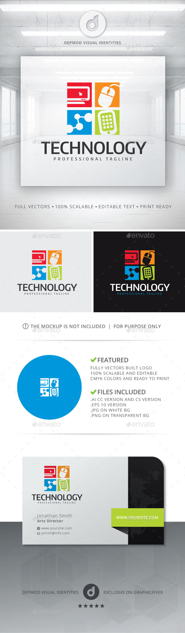 Technology Logo - Objects Logo Templates
