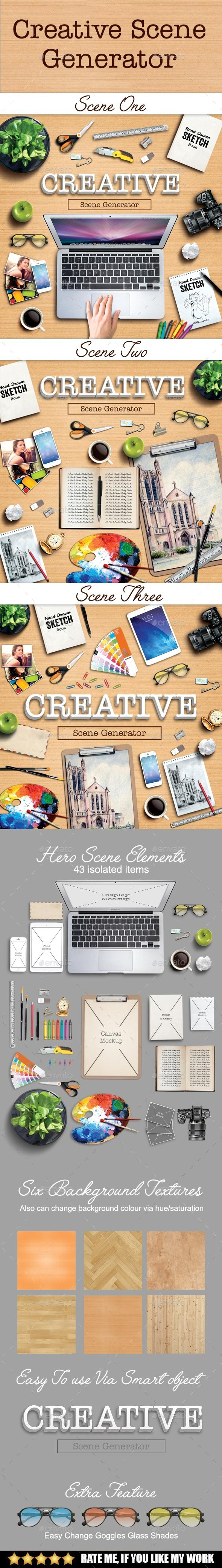 Creative scene generator - Hero Images Graphics