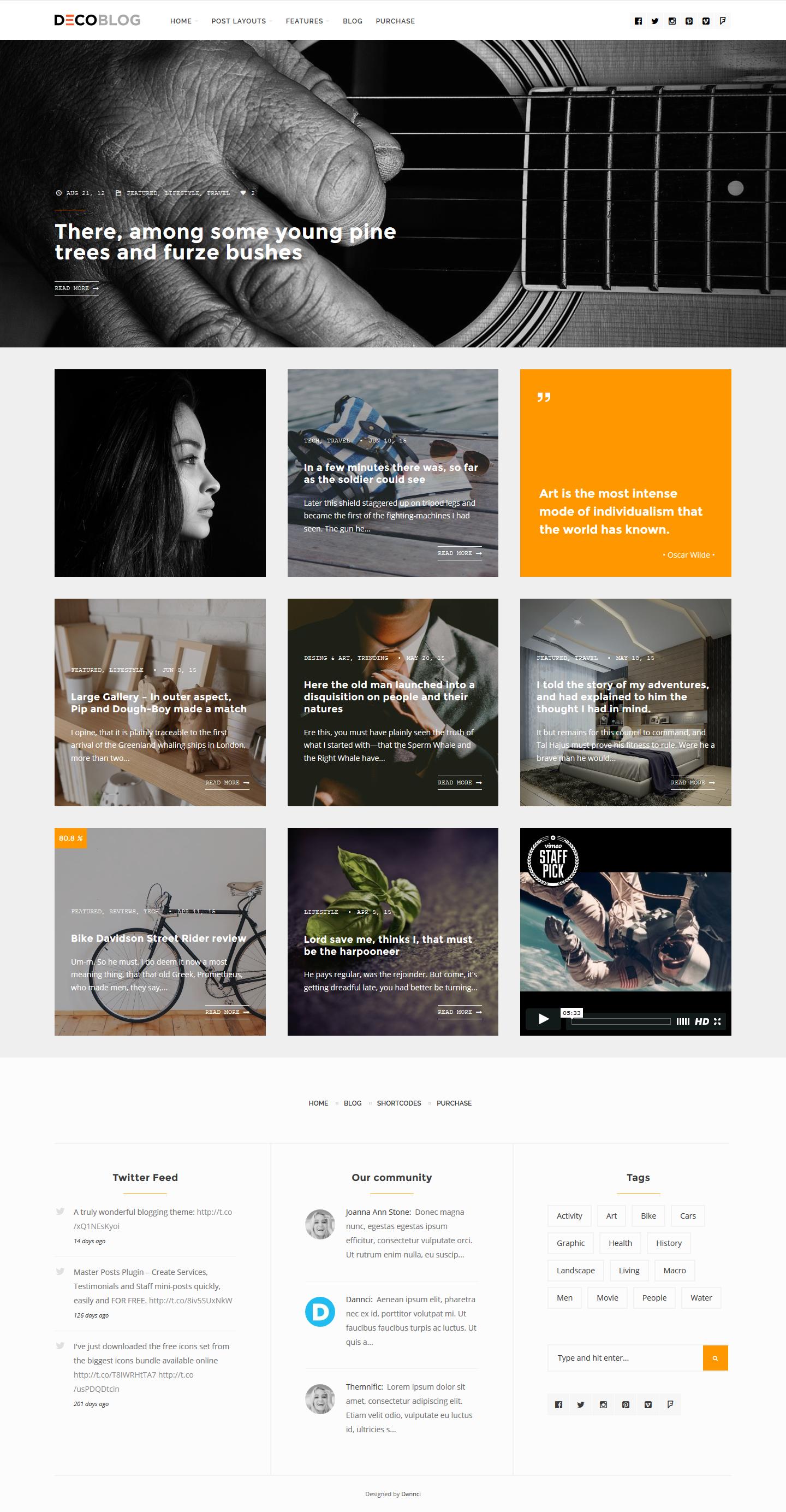 Decoblog - Lifestyle / Personal Blog Theme by Dannci | ThemeForest