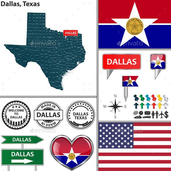 Dallas, Texas - Travel Conceptual