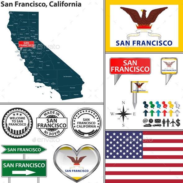 San Francisco, California - Travel Conceptual