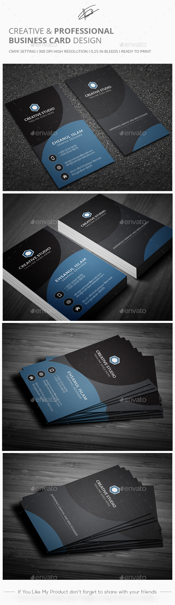 Creative & Professional Business card - Creative Business Cards