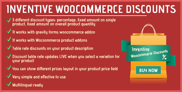 Inventive woocommerce discounts - CodeCanyon Item for Sale