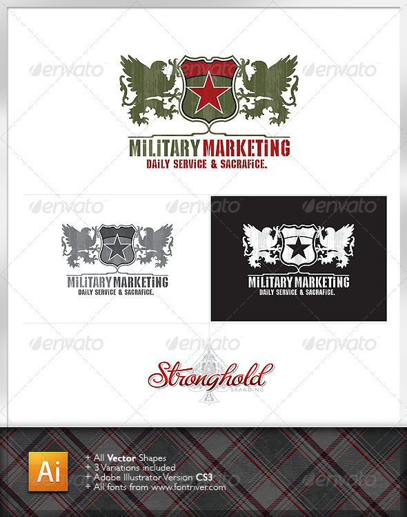 Military Crest 1 Logo - Crests Logo Templates