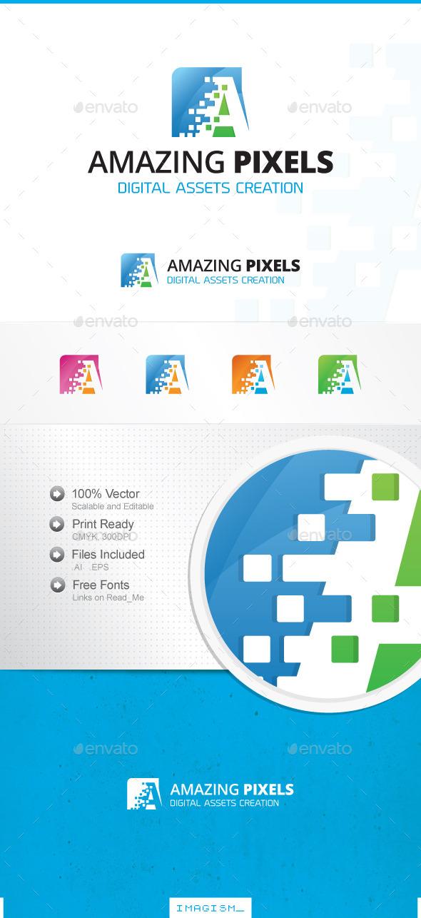 Pixels Logo - Letters Logo Templates