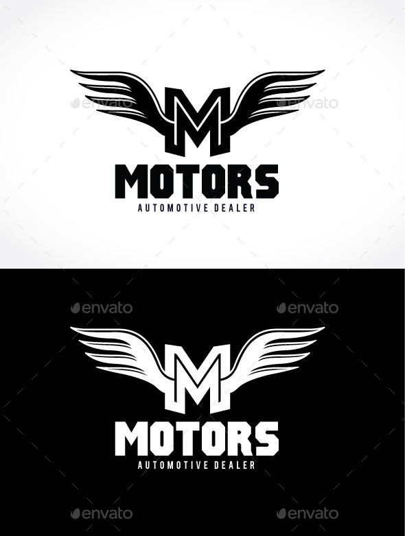 Monster Wing - Letters Logo Templates