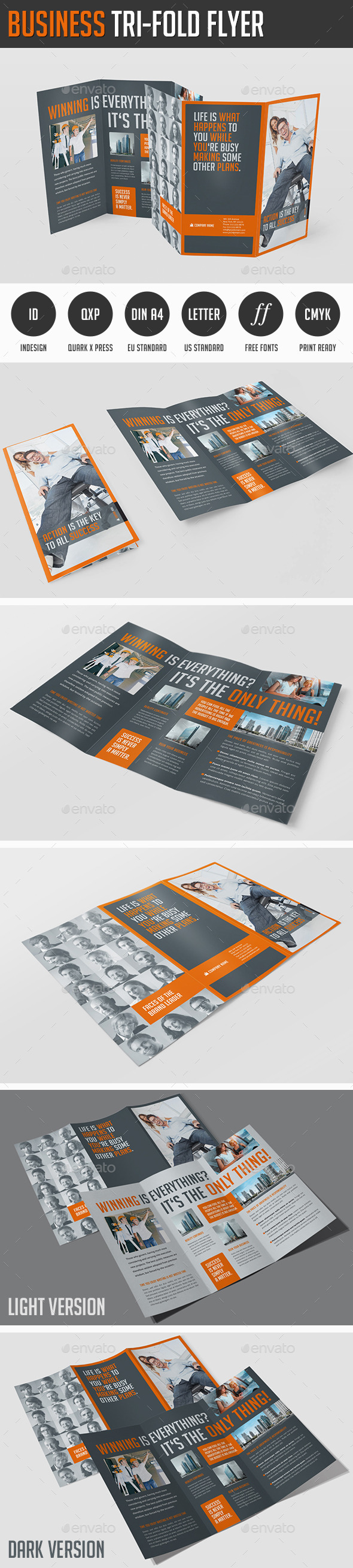 Business Tri-Fold Flyer - Corporate Brochures