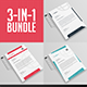 3 in 1 - A4 Letterhead Bundle V.1 - GraphicRiver Item for Sale