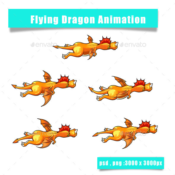 Dragon Sprite - Sprites Game Assets
