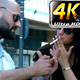 Man Fires Women Cigarette in City - VideoHive Item for Sale