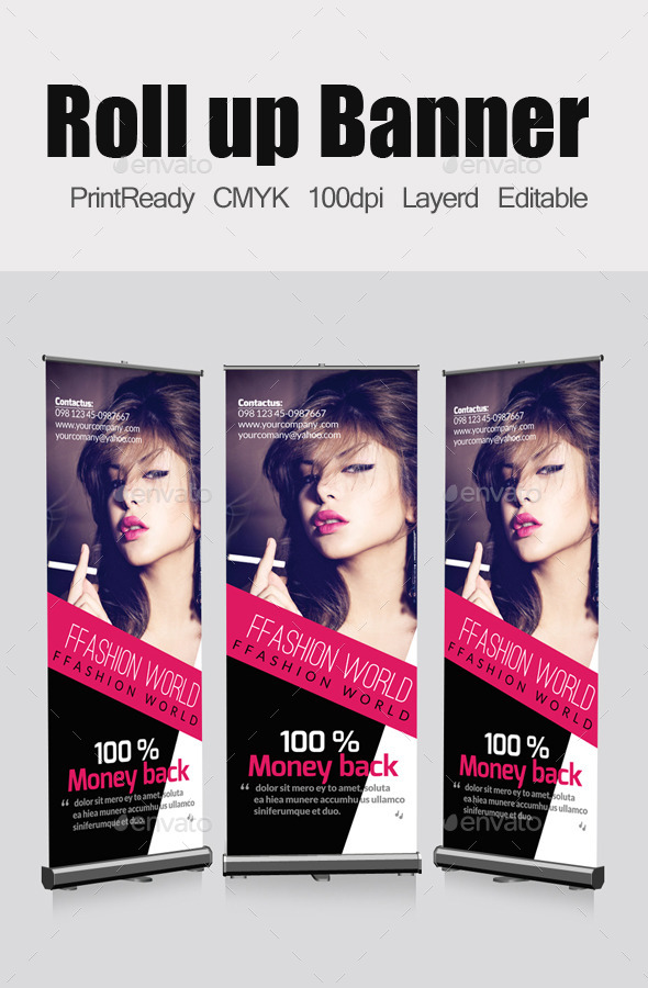 Fashion Roll Up Banners Template - Signage Print Templates