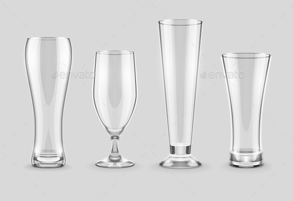 Glasses for Beer Drinking in Pub - Man-made Objects Objects