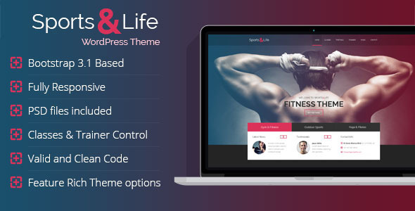 Sports & Life – Gym and Fitness WordPress Theme