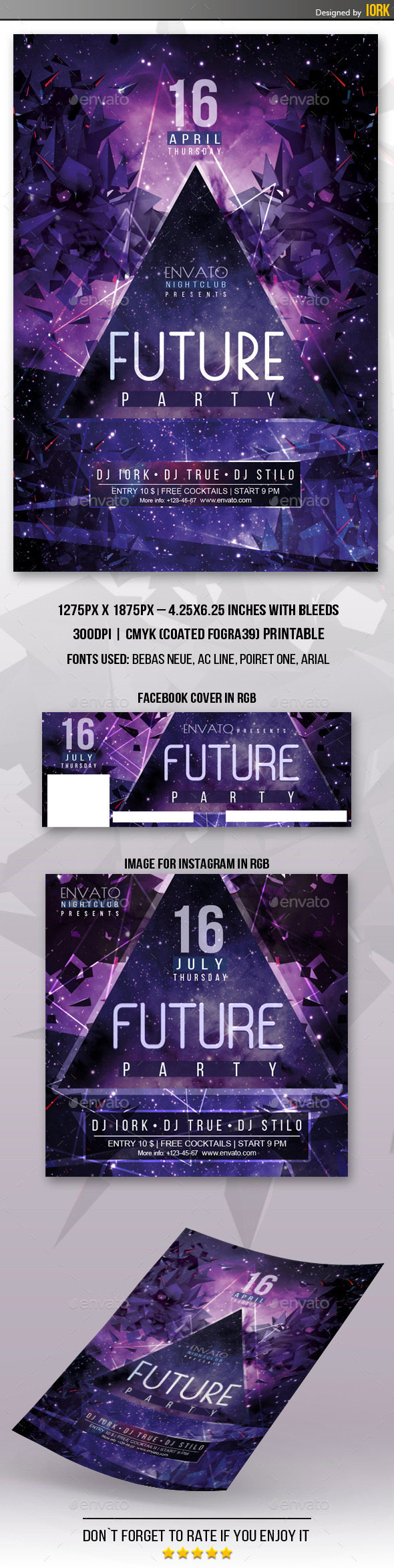 Future Party Flyer - Flyers Print Templates