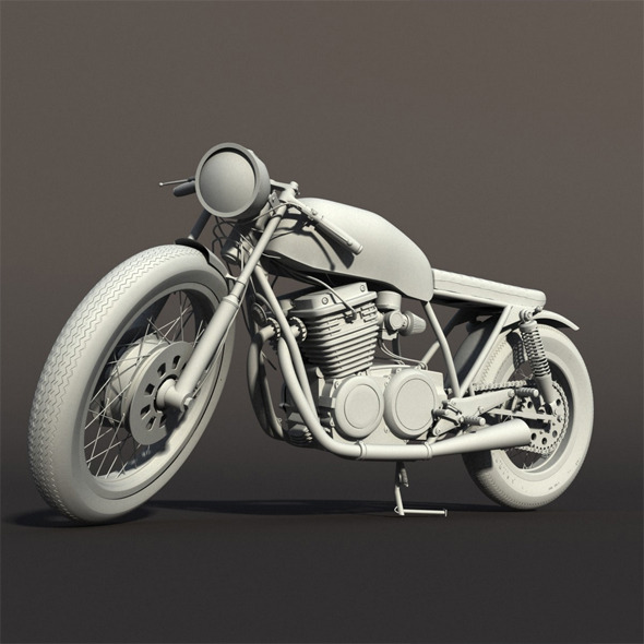 Cafe Racer Motorcycle - 3DOcean Item for Sale