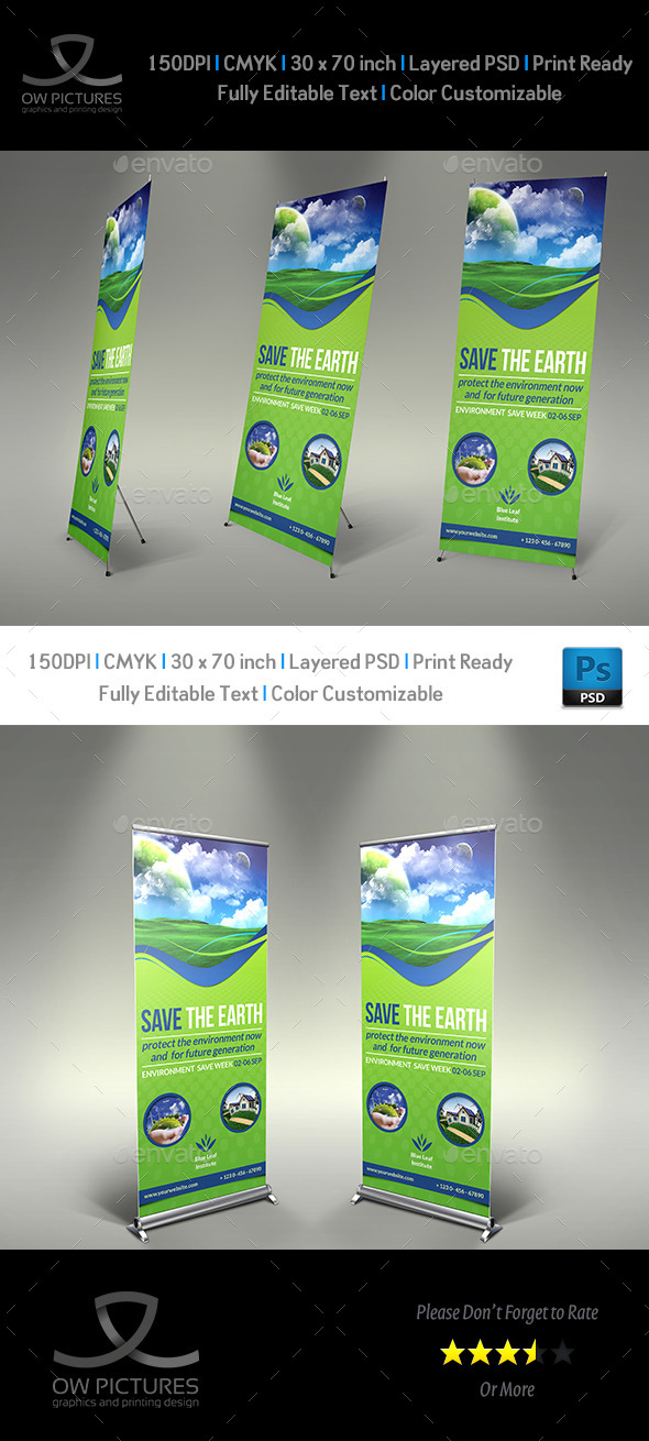 Environment - ECO Signage Template - Signage Print Templates