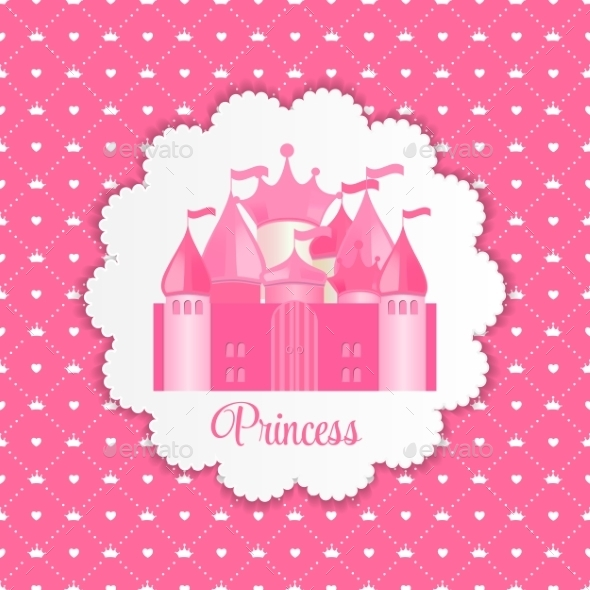 Princess  Background with Castle - Backgrounds Decorative