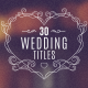 30 Wedding Titles - VideoHive Item for Sale
