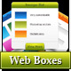 Web boxes in 5 colors - GraphicRiver Item for Sale