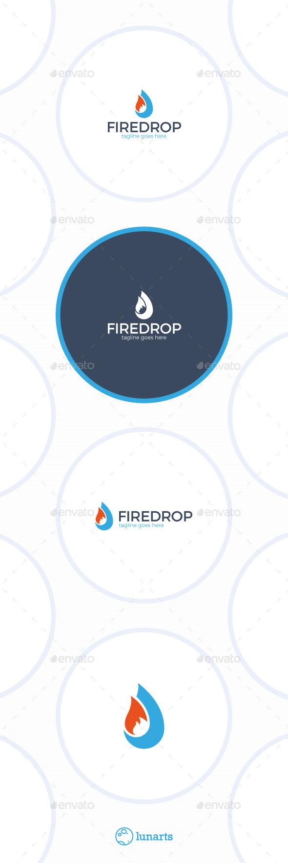 Fire Drop Logo - Nature Logo Templates