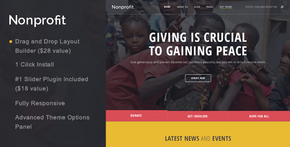 Nonprofit – NGO and Charity WordPress Theme