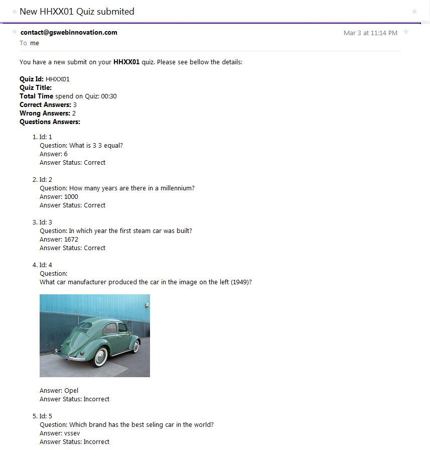 best car for me quiz