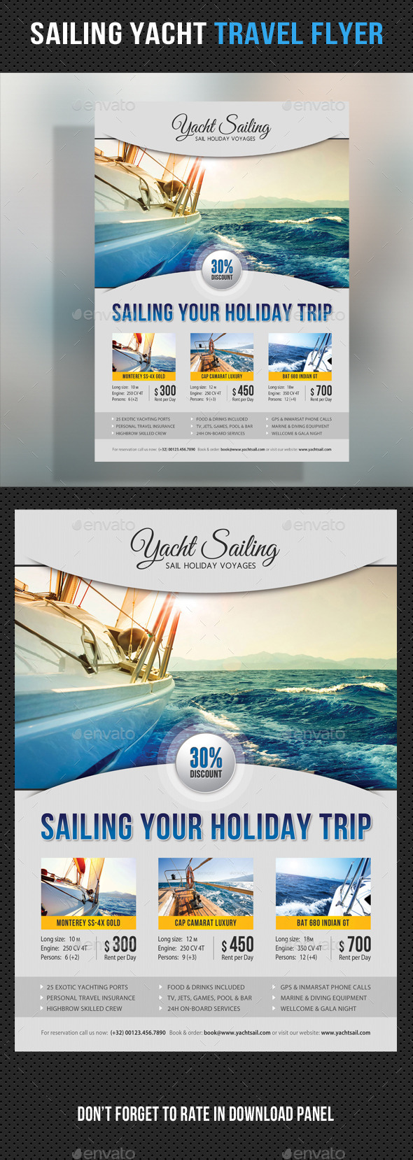 Sailing Yacht Travel Flyer 07 - Corporate Flyers