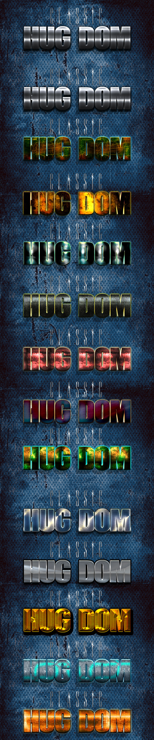 3D Huge Layer Styles - Text Effects Styles