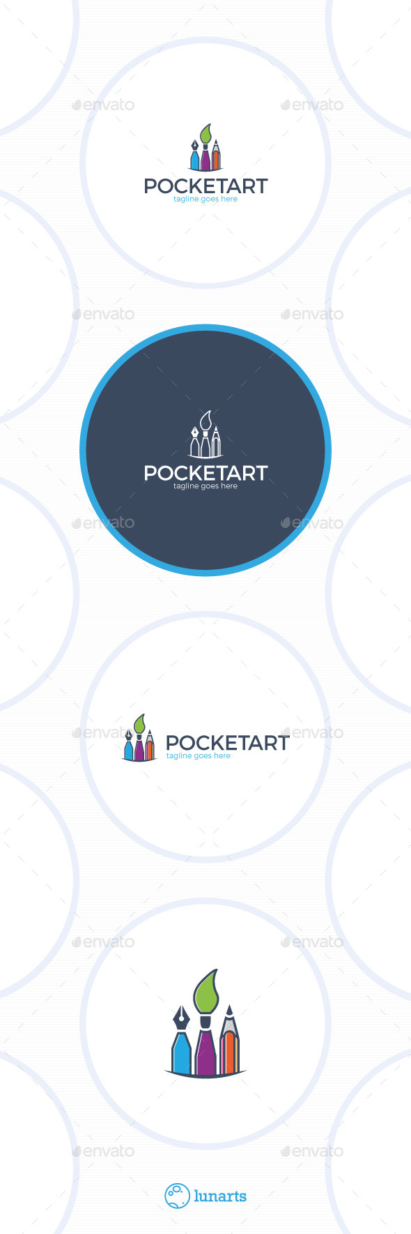 Pocket Art Logo - Symbols Logo Templates