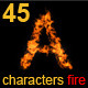45 Characters fire - VideoHive Item for Sale