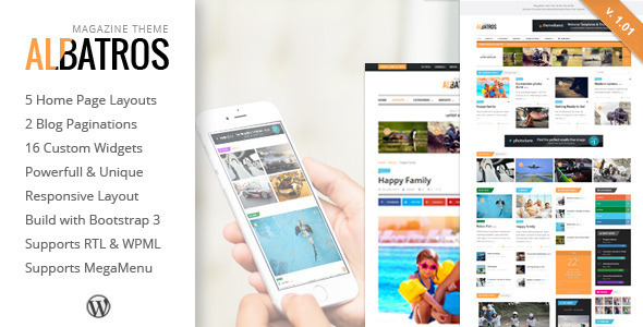 Albatros – WordPress Magazine Theme