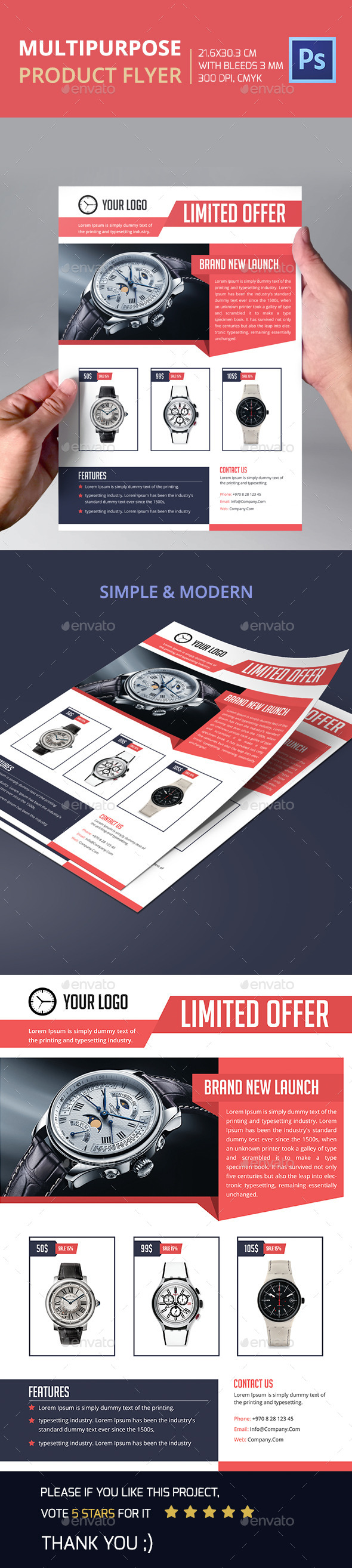 Multipurpose  Product Flyer - Corporate Flyers