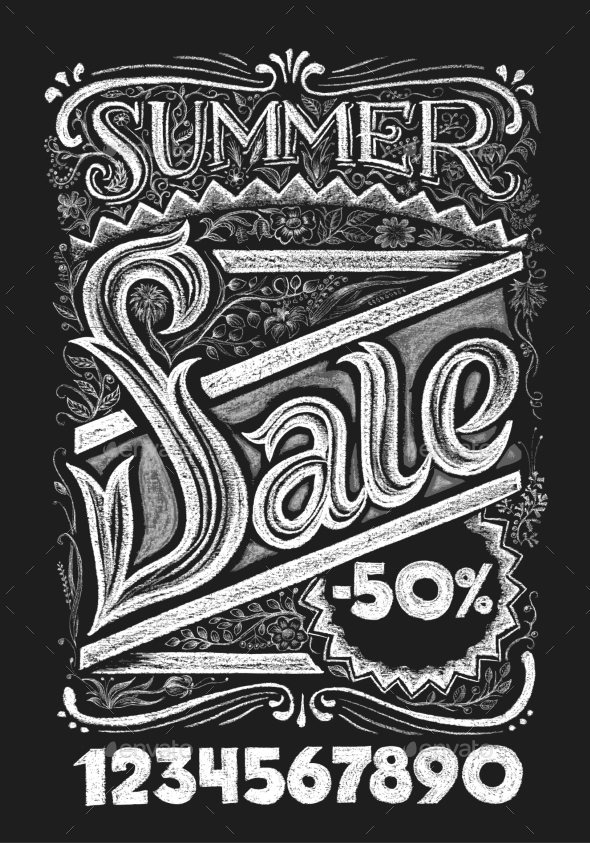 Summer Sale. Chalk Lettering - Retail Commercial / Shopping