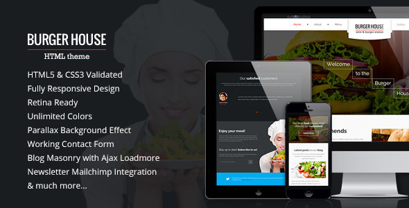 Burger House — Restaurant HTML Template
