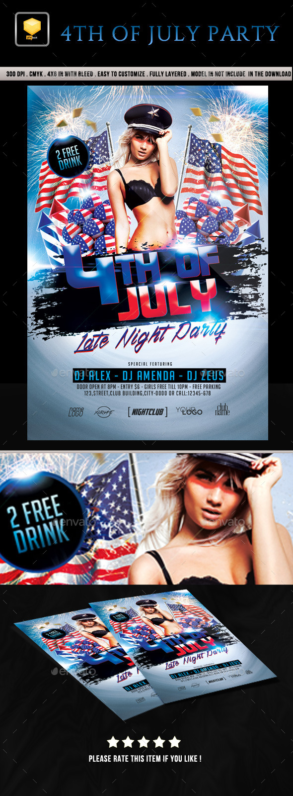 4th of July Party - Clubs & Parties Events
