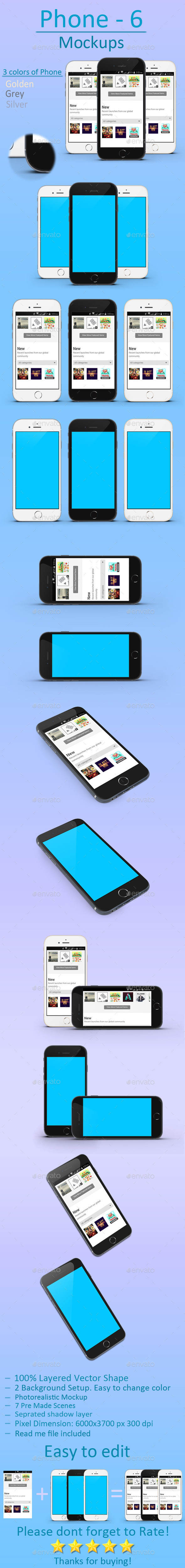 Phone 6 mockups - Mobile Displays