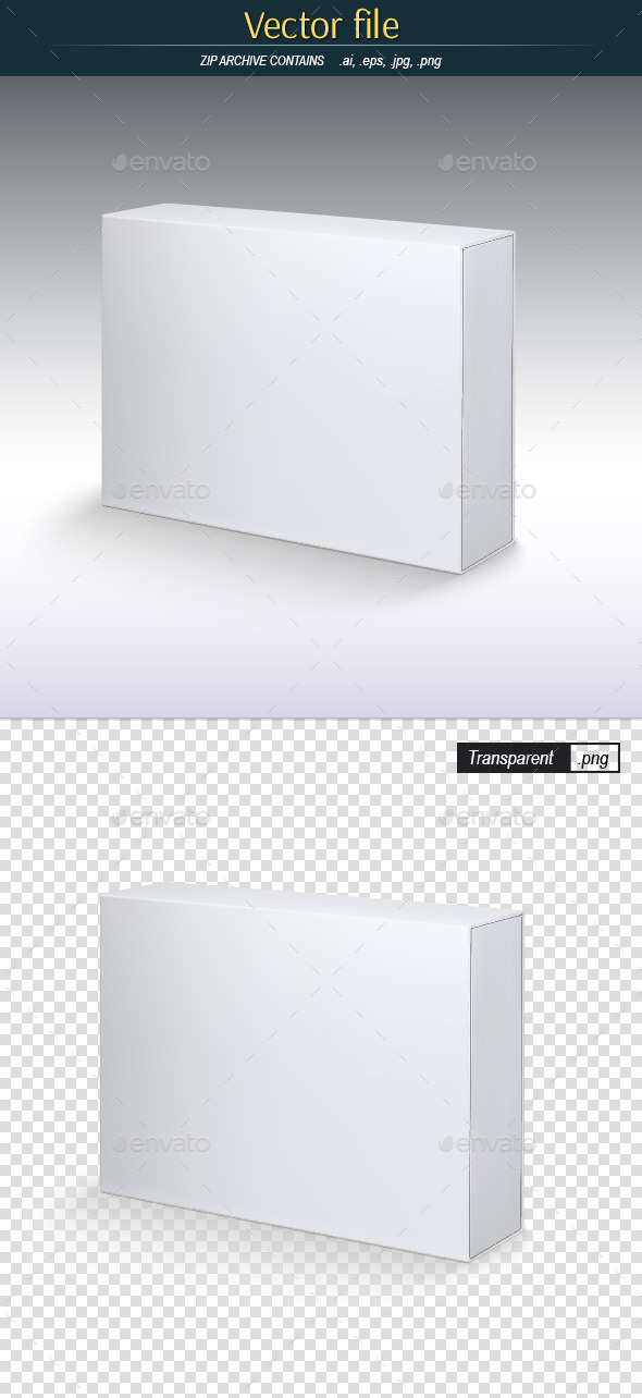 White Box - Vector Template for Preview - Man-made Objects Objects