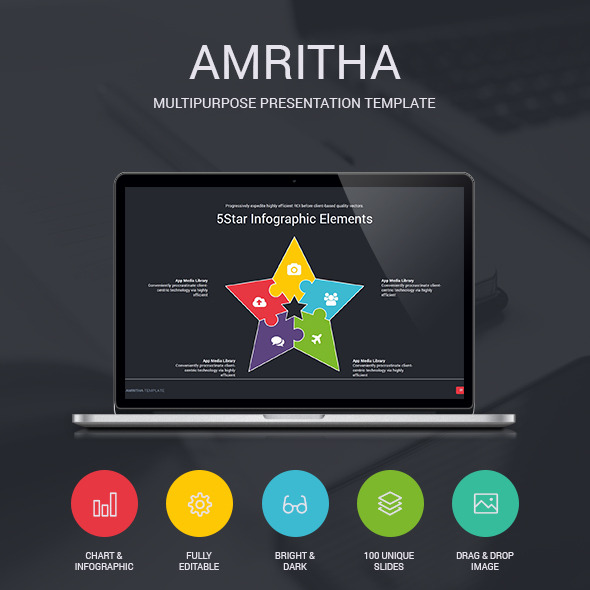 Amritha - Presentation Template - Creative PowerPoint Templates