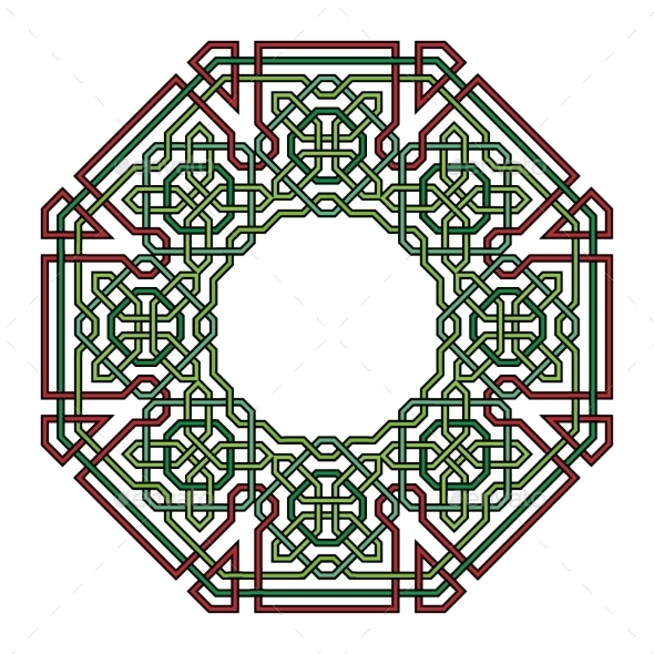 Frame With Tangled Modern Pattern - Borders Decorative