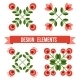 Set Of Design Elements - Retro Flowers - GraphicRiver Item for Sale