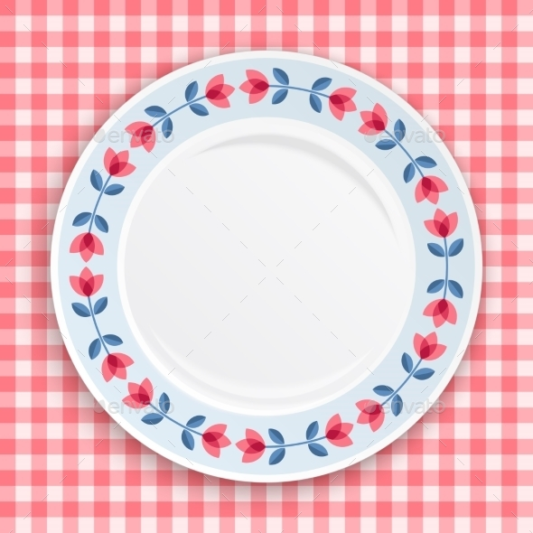 Decorative Plate, Top View. - Borders Decorative
