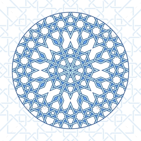Intricate Moorish Eastern Pattern - Patterns Decorative