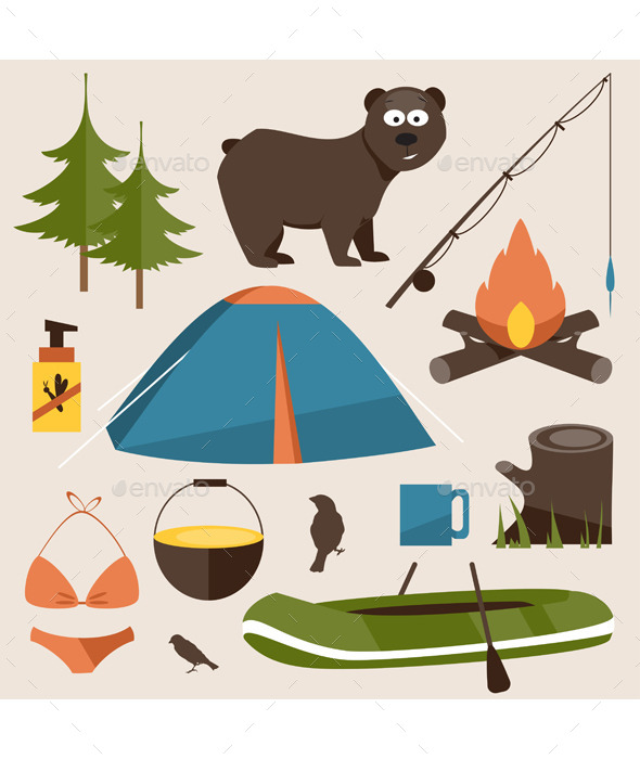 Camping Set - Travel Conceptual