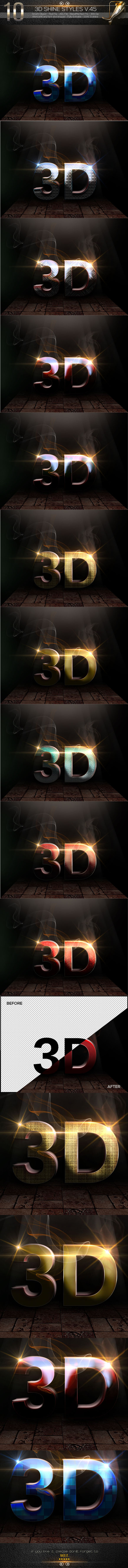 10 3D Text Styles V.45 - Text Effects Styles