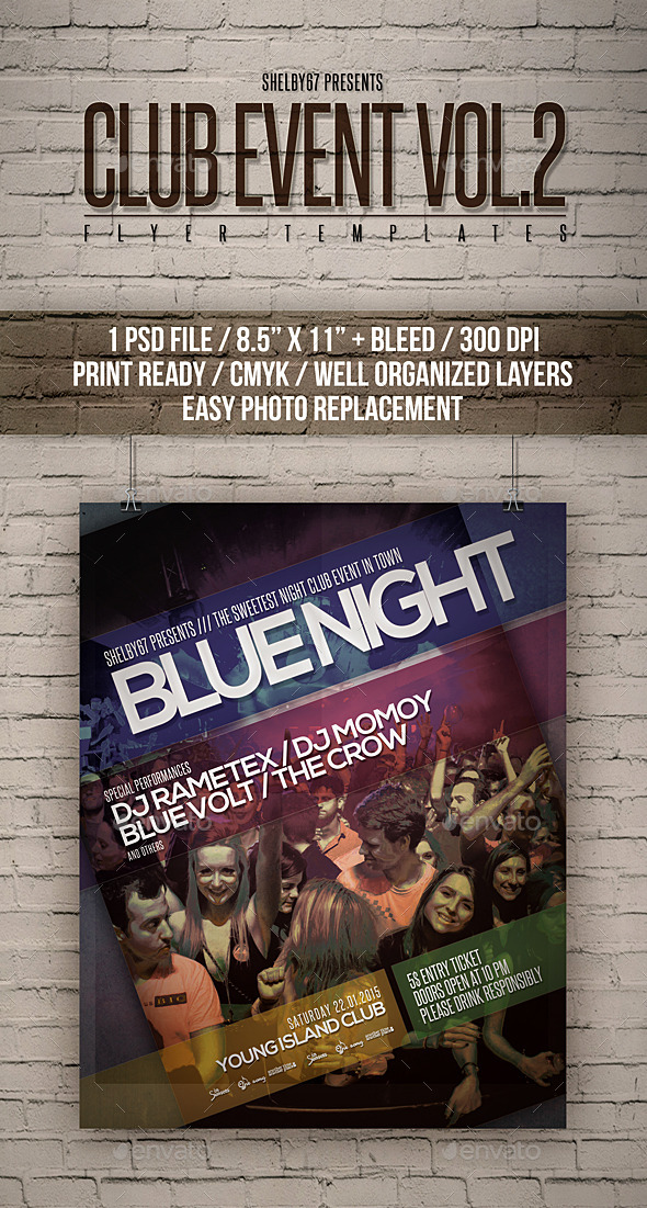 Club Event Flyer Templates Vol 2 - Clubs & Parties Events