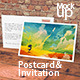 Postcard & Invitation Mock-up - GraphicRiver Item for Sale