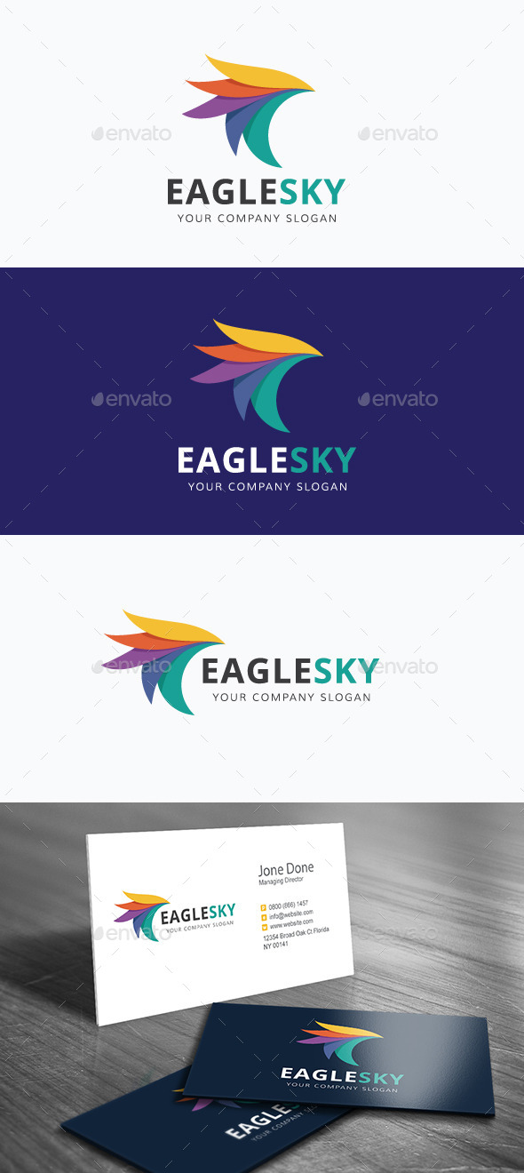 Eagle Sky - Animals Logo Templates